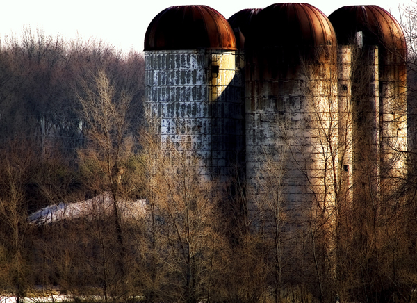 Silos In Early Evening #1