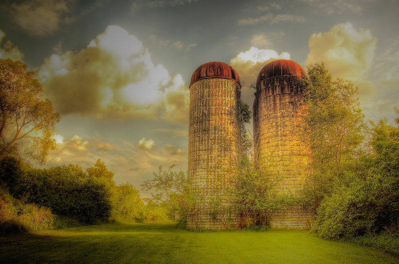 Silos In Late Spring (06)